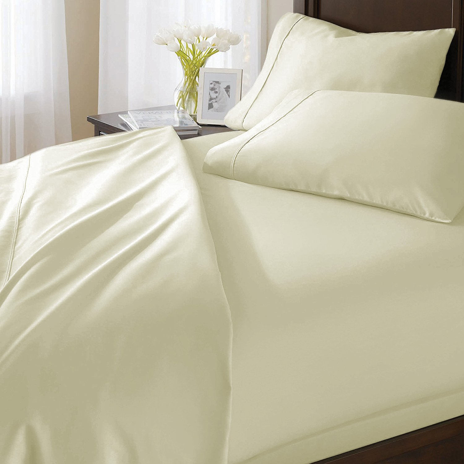 Duvet Cover /& 2 Pillow Shams Casa Decor Collections Exclusive Egyptian Cotton 1000 Thread Count Sold Full//Queen, Silver Grey Superior Softness-Italian Finish 3-Piece Duvet Set Solid