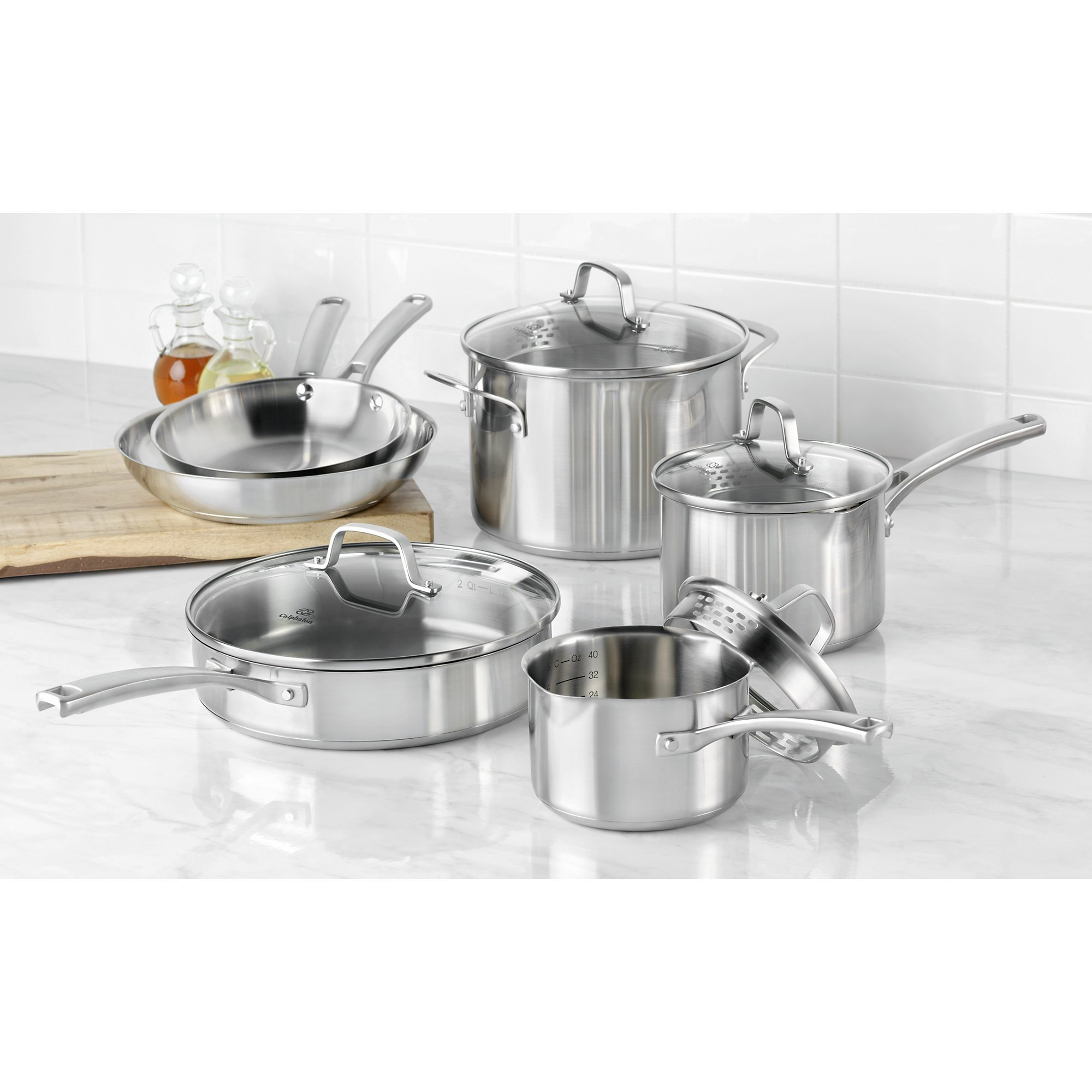 Calphalon Classic Stainless Steel Cookware Set, 10-Piece by Calphalon (Image #2)