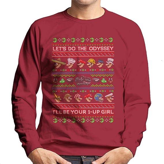 Super Mario Odyssey Christmas Knit Pattern Mens Sweatshirt Amazon