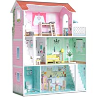 Milliard Doll House / 20 Furniture Pieces / 2.5 Feet High / Perfect Wooden Dollhouse for Kids