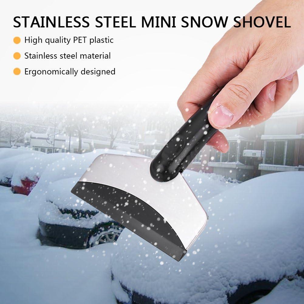 Schneeschaufel Edelstahl Mini Auto Fahrzeug Schneeschaufel Eiskratzer Entfernung Reinigungswerkzeug