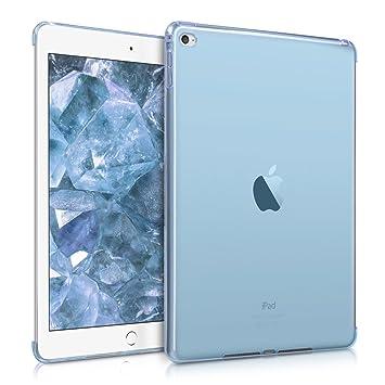 kwmobile Funda para Apple iPad Air 2 - Smart Cover compatible con case trasero - para tablet de TPU silicona - Carcasa para tableta en azul ...