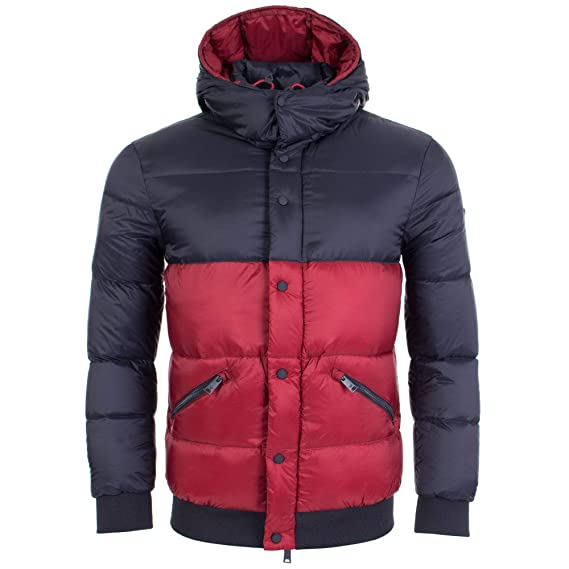 7b25ed5bc Emporio Armani Men s Outerwear Down Jacket Blouson Hood Orange ...