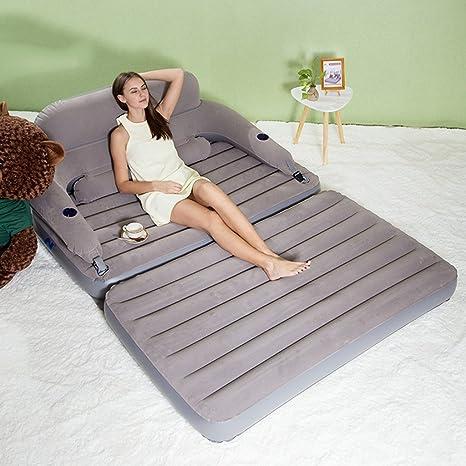 Amazon.com: Sofá hinchable de tamaño queen, colchón de aire ...