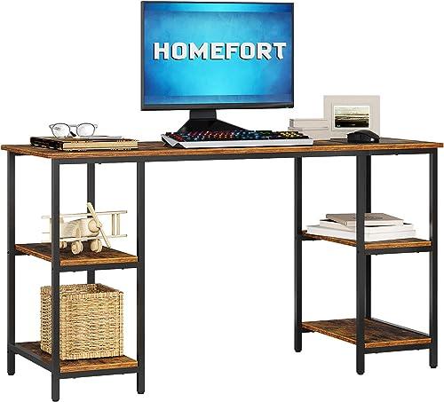 HOMEFORT Computer Desk,55-Inch Study Writing Desk