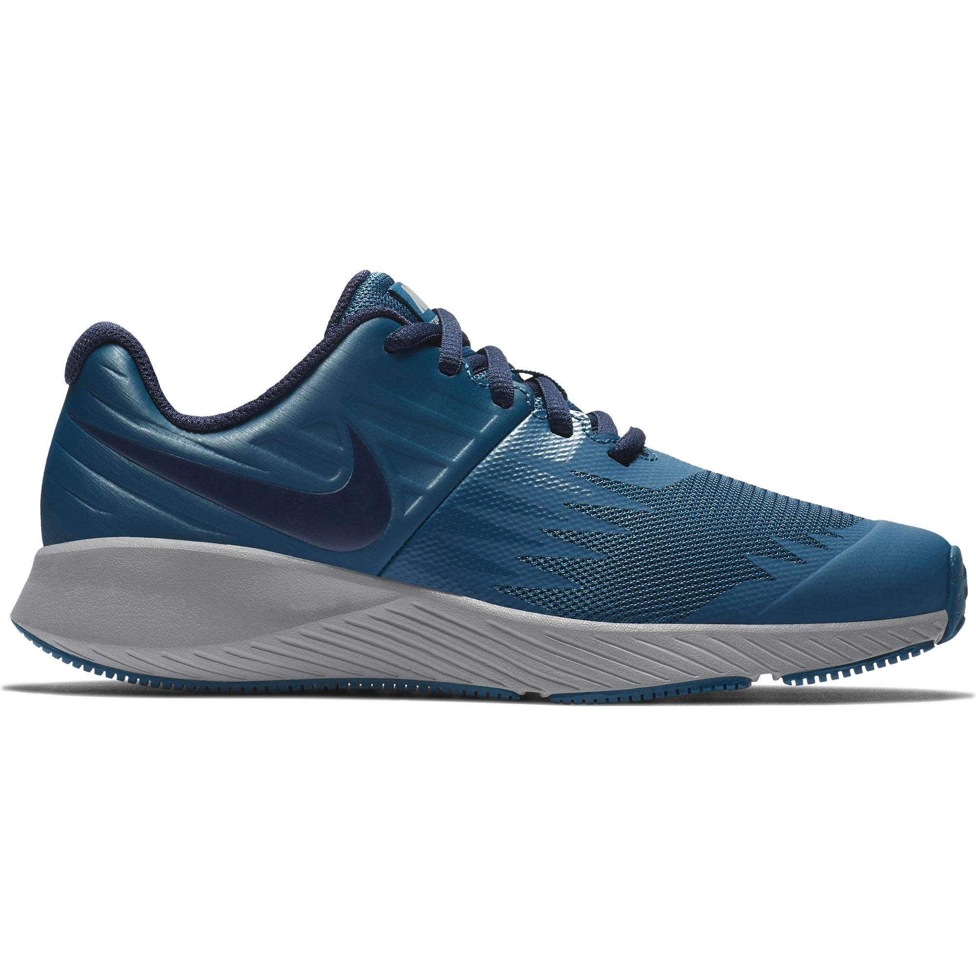 Nike Boy's Star Runner (GS) Running Shoe Blue Force/Blackened Blue/Green Abyss Size 4 M US by Nike (Image #1)