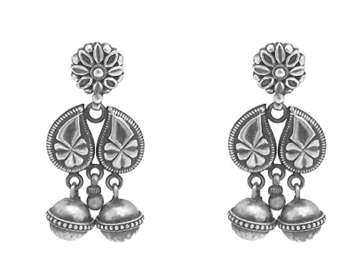 d9c3616b7 Pure Silver Jhumkas/ 92.5 Sterling Silver Fashion Stylish Oxidized look  Fancy/Traditional Party wear