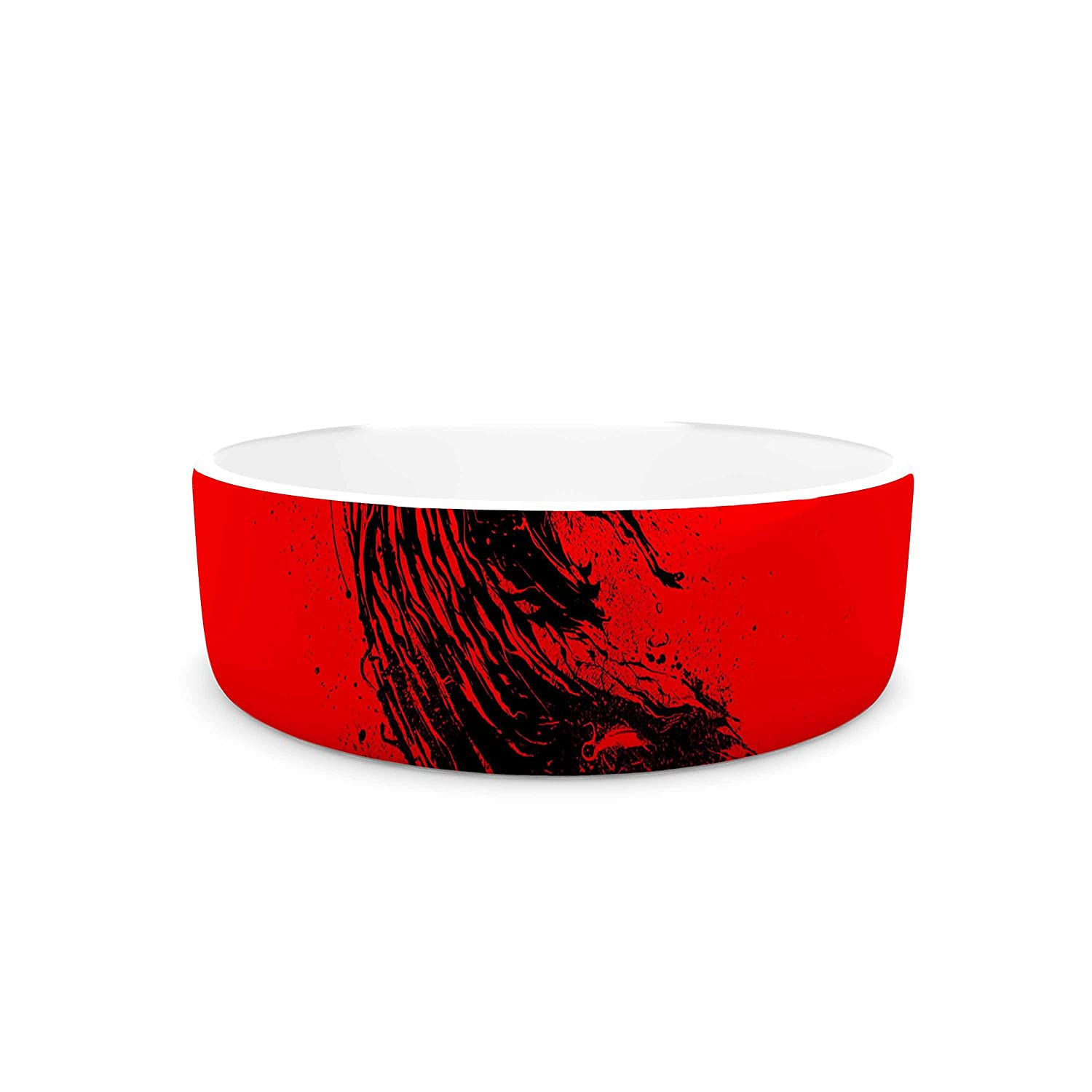7\ KESS InHouse Barmalisirtb Came from Hell  Red Digital Pet Bowl, 7