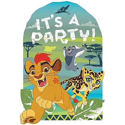 Amazon Amscan Disney The Lion Guard Postcard Invitations Party