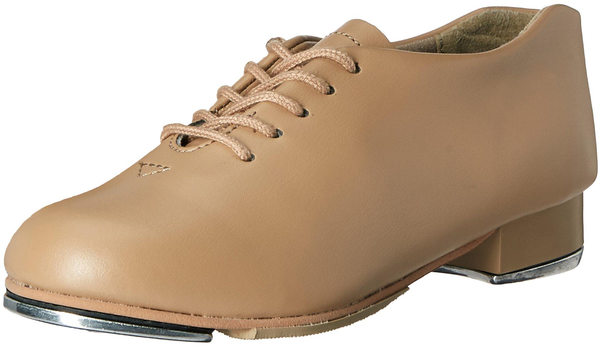 Capezio Girls' TIC TAP Toe Ballet Shoe, Carmel, 2 W US Little Kid by Capezio