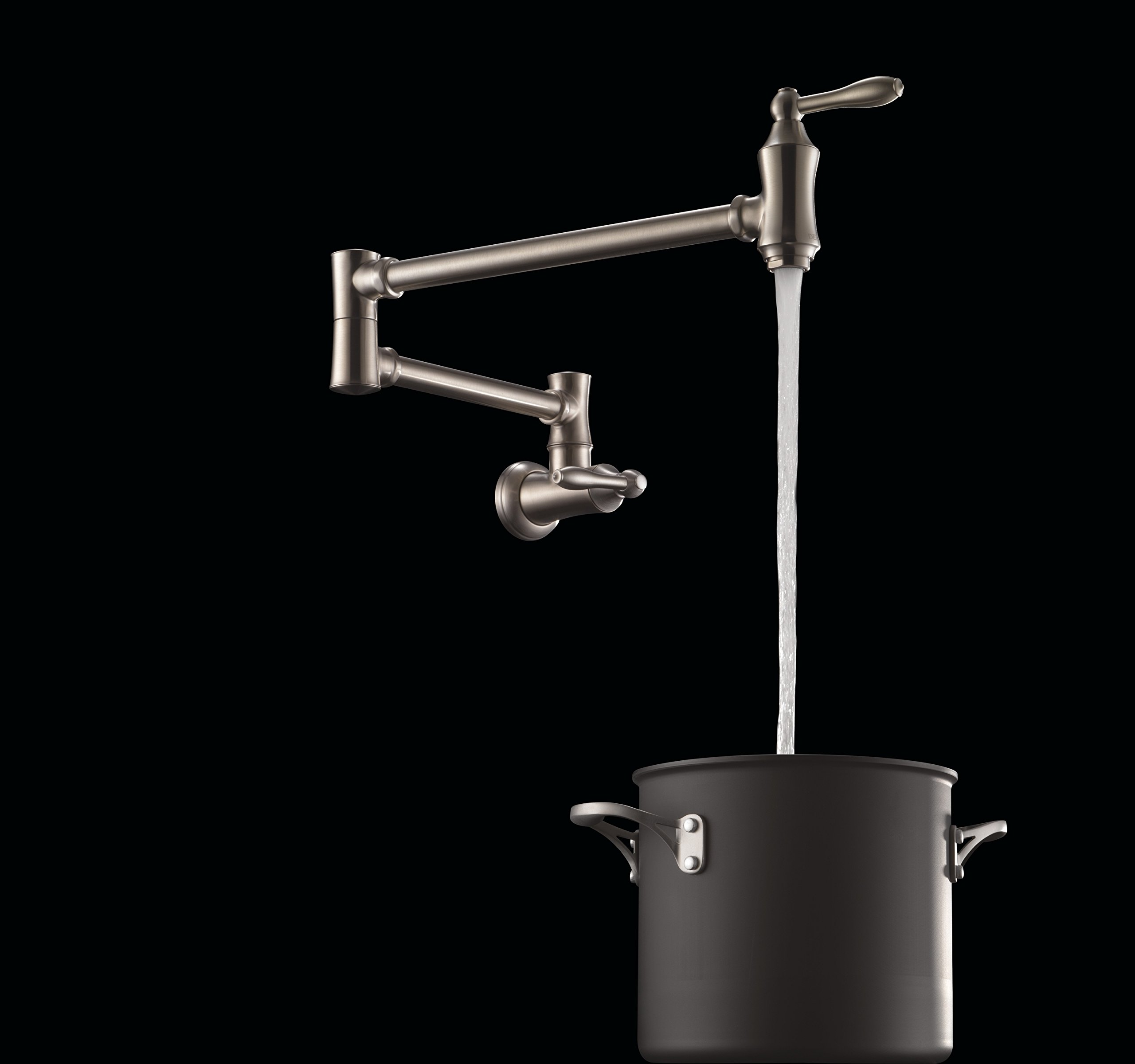 Delta Faucet Traditional Wall-Mount Pot Filler Faucet, Stainless 1177LF-SS by DELTA FAUCET (Image #5)