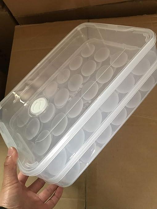 Huevera - Dos capas de bandeja portátil de plástico para huevos ...
