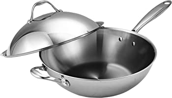 Cooks Standard Stainless Steel Multi-Ply Clad Wok