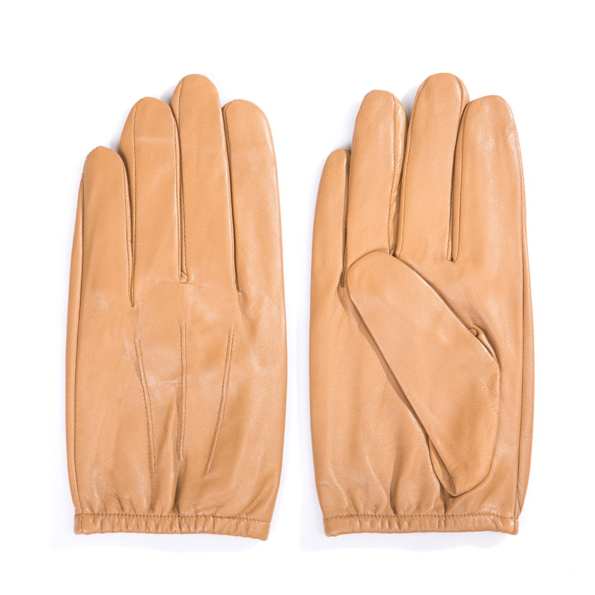 MATSU Mens Driving Leather Gloves For Motorcycle,Police,Lambskin Leather M1063(M,Camel)