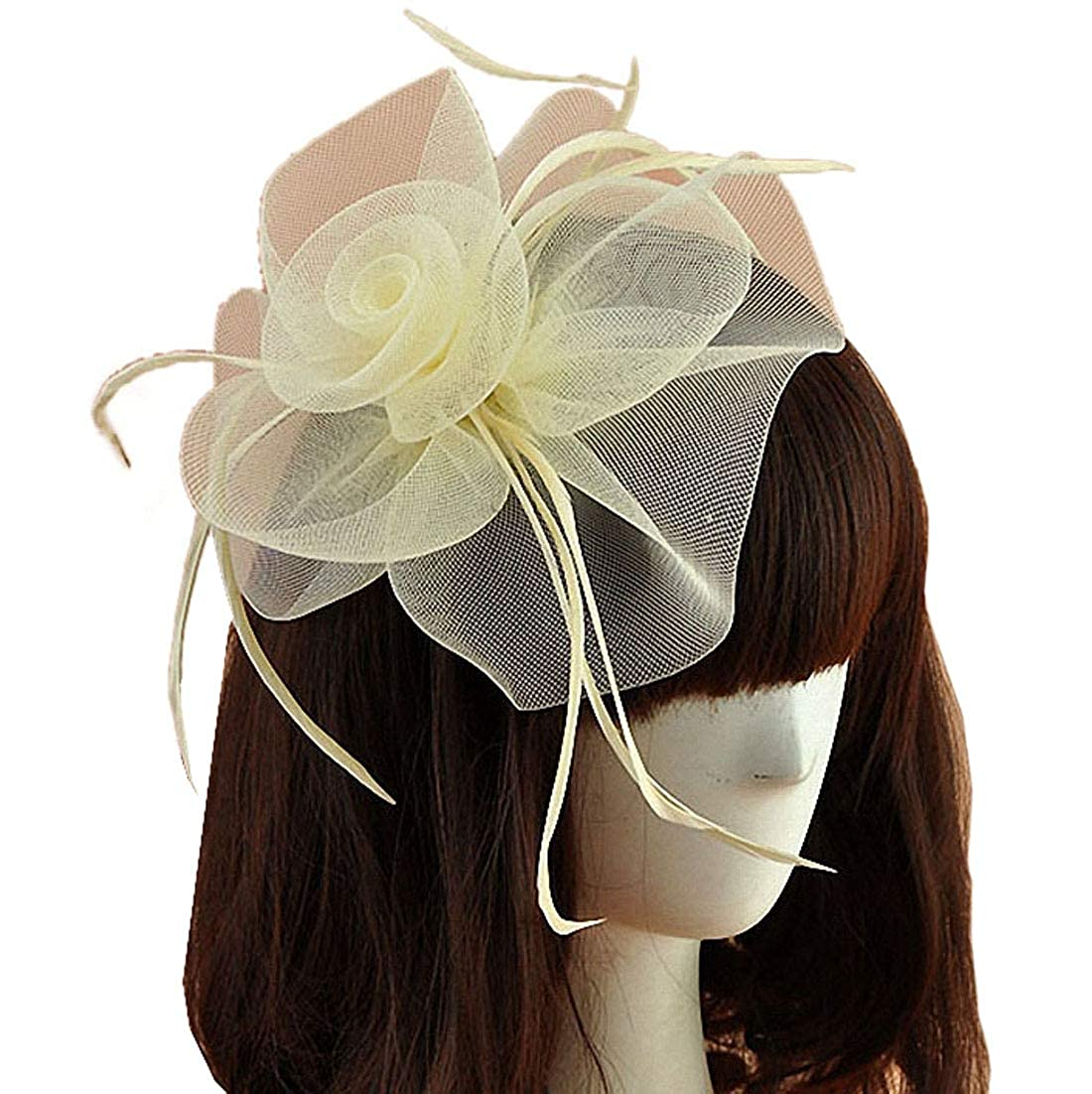 0780d076 fascinator hair clip hair metal ,hair clip thin hair ,clamp ,Fedora Hats  felt , veil netting mesh Fedora Hats felt hat base disc pillbox pill box  small mini ...