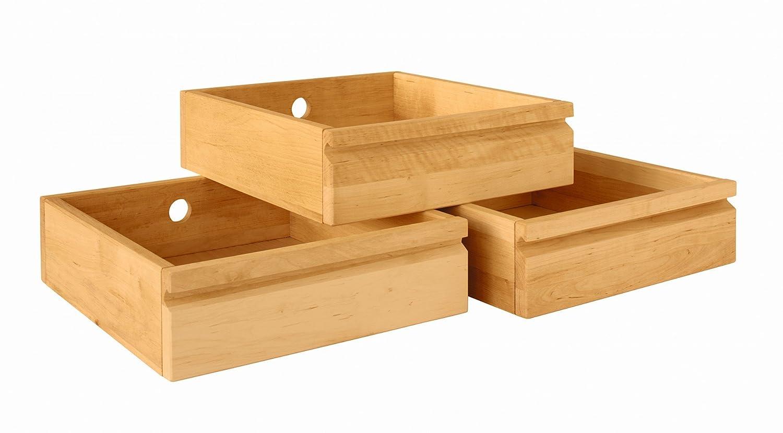 BioKinder 23416 Laura Office Schubladen-Set mit 3 Schubladen aus Massivholz