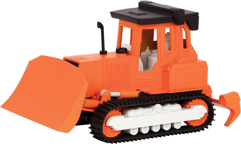 DRIVEN by Battat WH1012Z Micro Bulldozer Rastrillo, Pala y Sonido Realista - Camiones y Juguetes de construcción para niños a Partir de 3 años, Multicolor