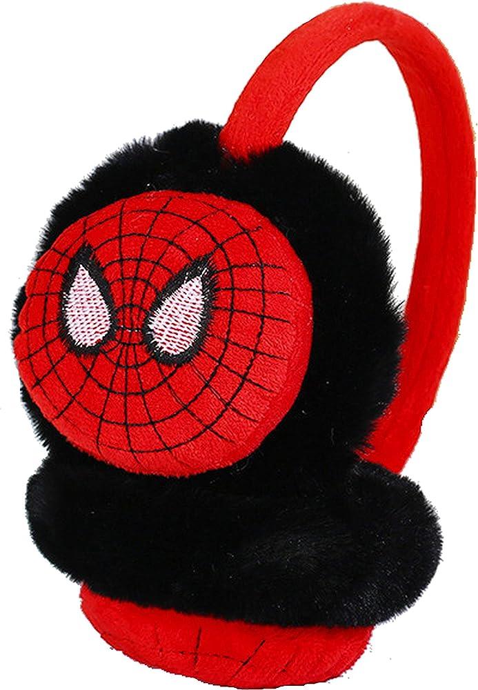 YUIP Spiderman Earmuffs,Superhero Earmuffs Soft Plush Padded Knitted Design Earwarmer Kids Winter Ear Muffs for Boys