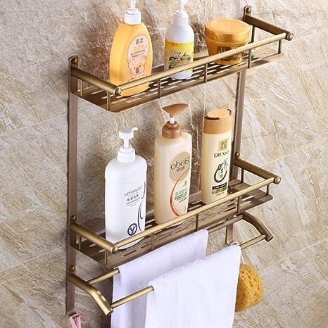 SB de latón macizo antiguo Vintage kontinentalschelf Toalla Rack – Estantería para baño accesorios de baño