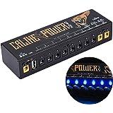 Caline パワーサプライ ギター エレクトリックギター用 フェクター エフェクト 電源 DC 9V/12V/18V 独立型パワーサプライ 10絶縁出力チャネル USB充電コッド付き 短絡保護 過熱保護 PSE認証 (10チャネル+1USB)