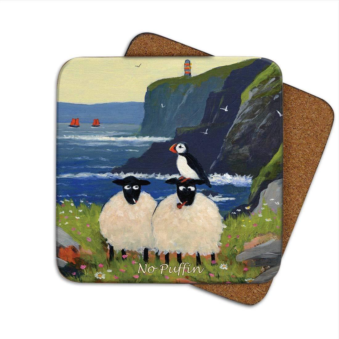 No Puffinコースターby Thomas Joseph – Funny Sheep by Thomas Joseph   B01BVJ7TDY