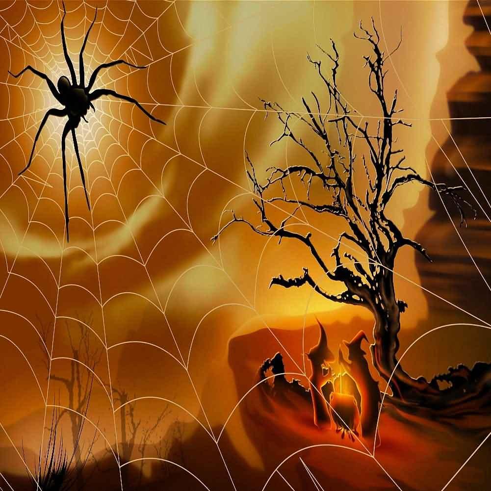 GladsBuy YHA-022 蜘蛛のイマジネーション柄 10フィート x 10フィート デジタル印刷写真背景 ハロウィンテーマの背景   B016BWAW7G
