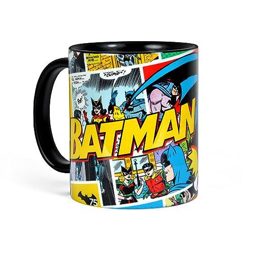 Batman - Mug rétro Comic Robin & Catwoman - Céramique Noir