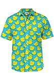 Men's Blue Rubber Ducky Hawaiian Shirt - Rubber
