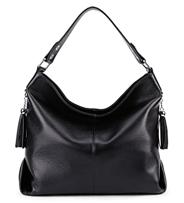 Amazon.com  BIG SALE-AINIMOER Womens Leather Vintage Shoulder Bag Ladies  Handbags Large Tote Top-handle Purse Cross Body Bags (Black)  Shoes 4c539a2fa