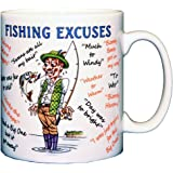 Fishing Excuses Funny Ceramic Coffee Mug – Makes an Ideal Gift