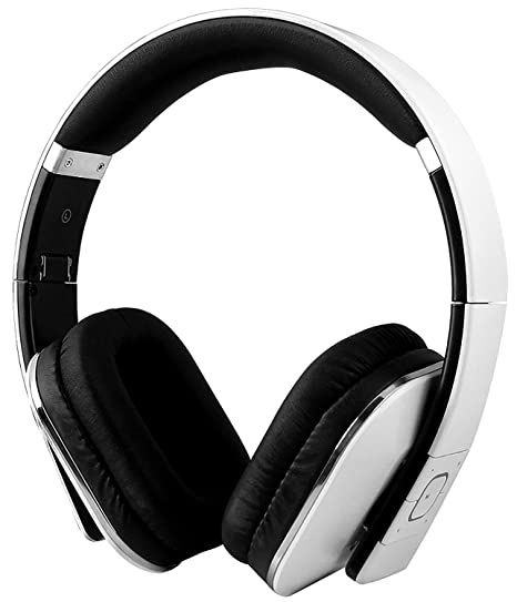 7fa88130eed White : Over Ear Bluetooth Wireless Headphones - August EP650 - Enjoy Bass  Rich Sound and