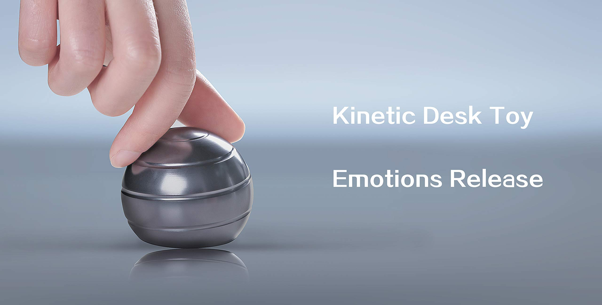 Mountain Giant Kinetic Desk Toy with Full Body Visual Illusion Ball Decompression Ball Fidget Stress Anxiety Relieves Aluminium Decoration Ball for Kids and Adults by Mountain Giant (Image #6)