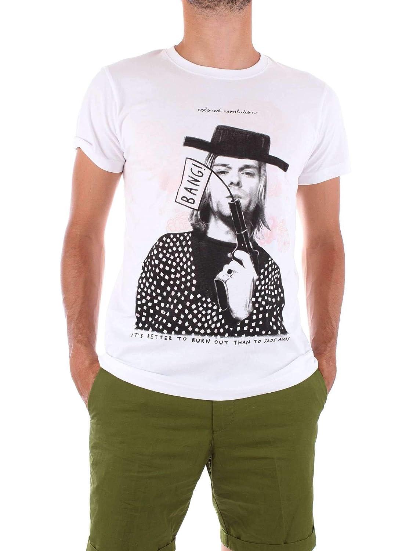 L COLoruge REVOLUTION Luxury mode Homme M002blanc Blanc T-Shirt   Printemps été 19