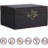 MONOJOY Faraday Box, Faraday Key Fob Protector, PU Leather Faraday Cage, Car Key RFID Signal Blocker Faraday case