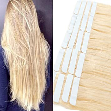 Tape Extensions Echthaar 100 Remy Echthaar Haarverlängerung Glatt