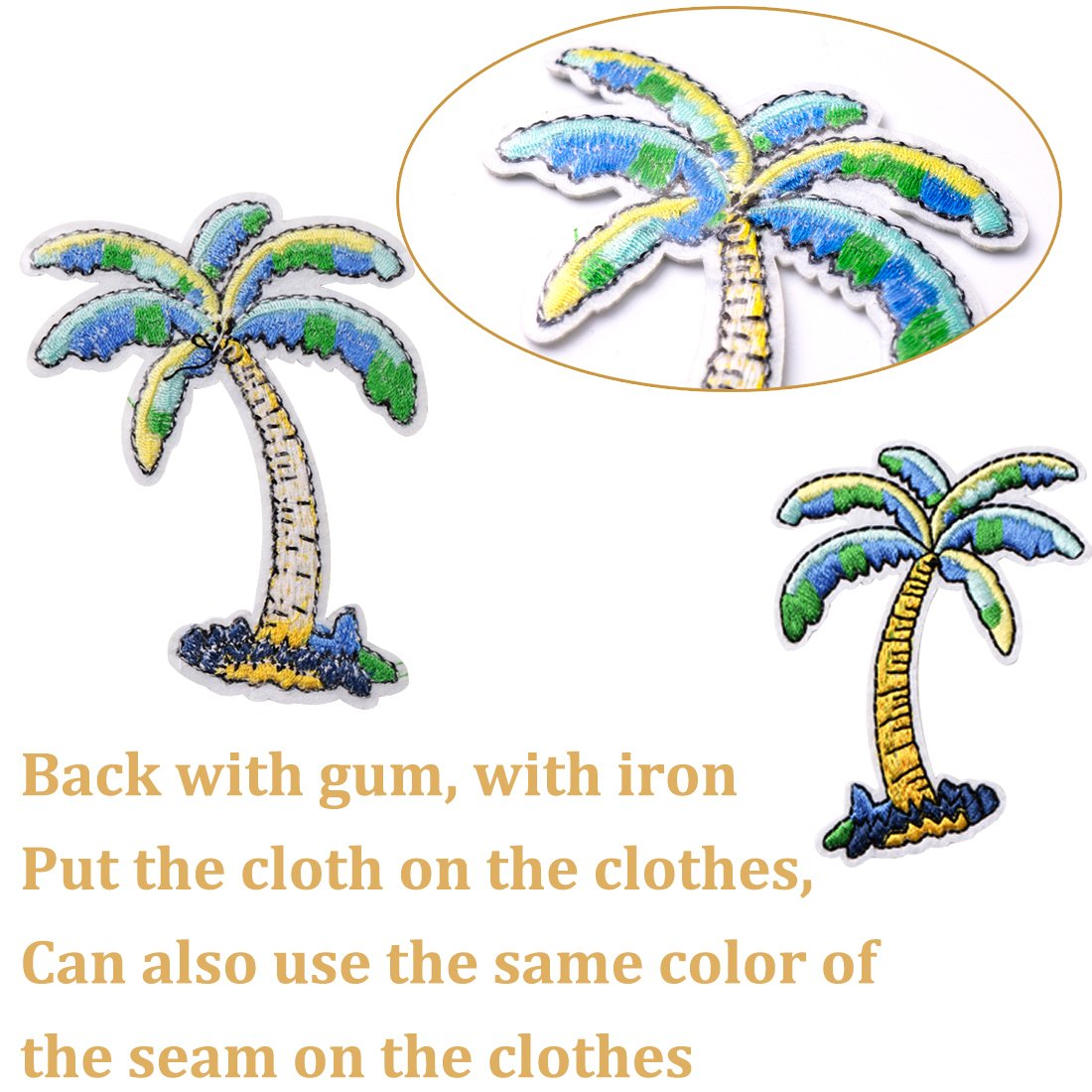 Gemoor 30pcs Patches Iron On Or Sew On Embroidered Patch For