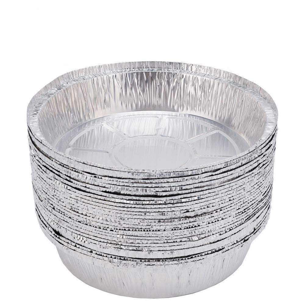 9 Inch Round Disposable Aluminum Foil Pans(30 Pack) for Baking, Cooking, Takeouts and Catering,Storage & Reheating by superkit