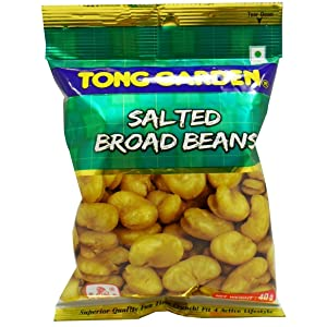 Crispy Salted Broad Beans Snack Tong Garden Brand (Net Wt 40g X 3) Product of Thailand
