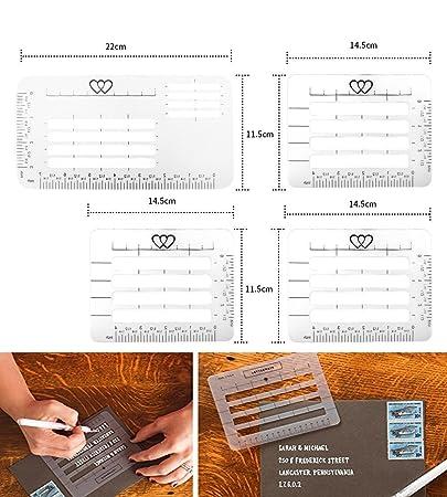 Remerciement Main Pour De À Lettrage Pochoirs La Envelop Modèles Enveloppes D'adresse Pack Guide Carte Guide Du 4 Règle Écriture Droites Nicwhite HqgnRZ1xP