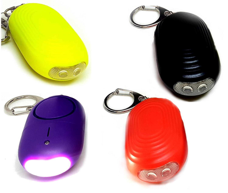 angju alarma personal sonido seguro de emergencia autodefensa seguridad alarma llavero LED linterna para mujeres ni/ñas ni/ños