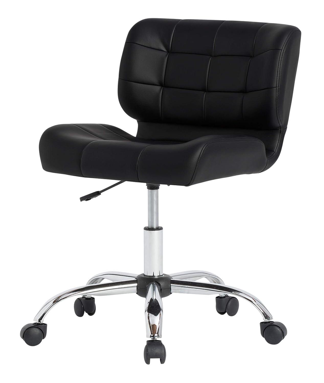 Strange Calico Designs Modern Black Crest Armless Office Chair Swivel Task Chair Desk Chair Computer Chair Black Dailytribune Chair Design For Home Dailytribuneorg