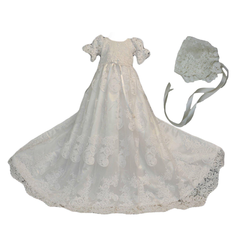 Wedding Lace Christening Gowns Baby Baptism Dress Newborn Baby Dress