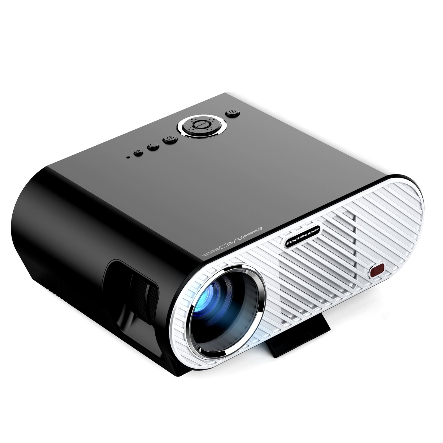 Abdtech LCD Portable Video Home Projector With 3200 LED Luminous Efficiency Max 280'' Screen With Optical Keystone USB/AV/HDMI/VGA Interface-Support 1080P HD-Ideal for Video Games And Movie