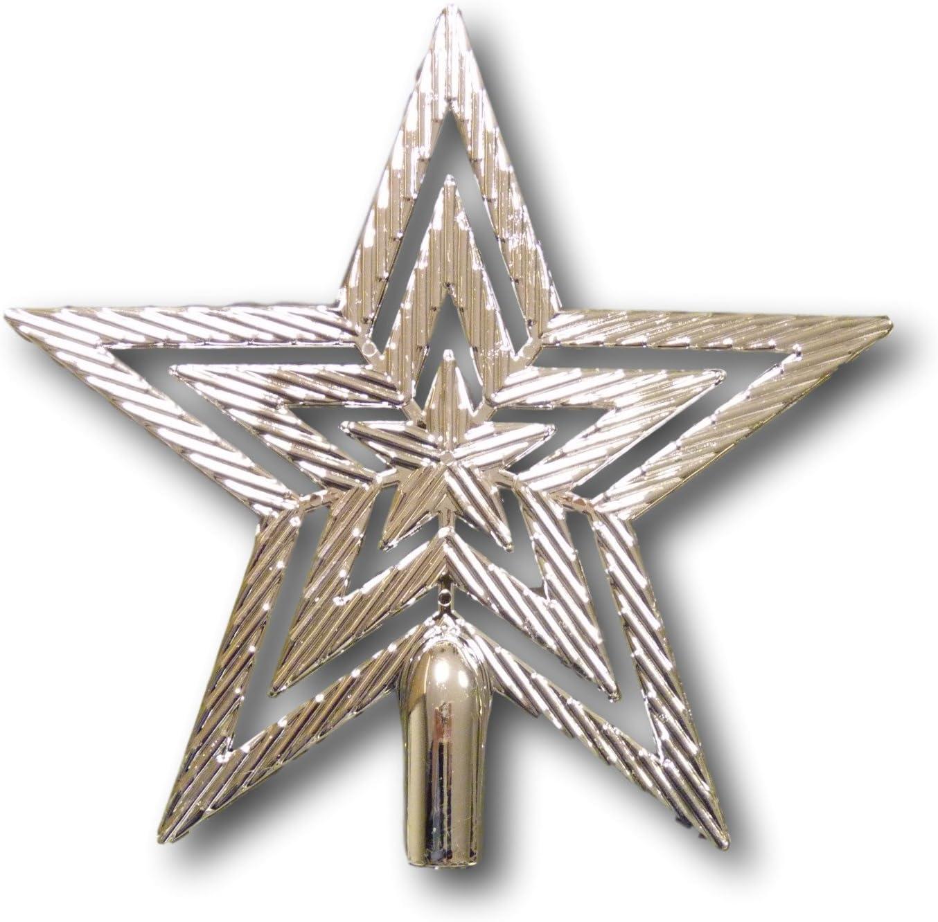 Weihnachtsbaumspitze Baumspitze Baum Spitze Stern Baumschmuck glitzer glanz 19cm