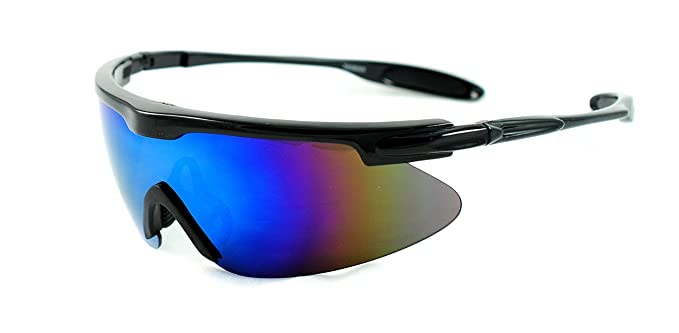 stylish glasses for men  Amazon.com: Lightweight Oversized Sports Shield Mirrored Wrap ...