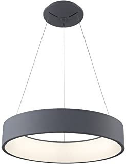 Saint mossiexclusive design modern circular led chandelier tenseng pendant led light fixture 27w dimmable chandelier contemporary lighting aluminium alloy gray diameter 45cm modern aloadofball Gallery