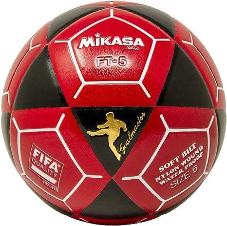 Mikasa FT5 Meta Maestro Pelota de fútbol, Color Negro/Rojo, Talla ...