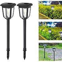 Aigostar Lámpara solar - Lámpara LED para exterior, resistente al agua, luces solares led…