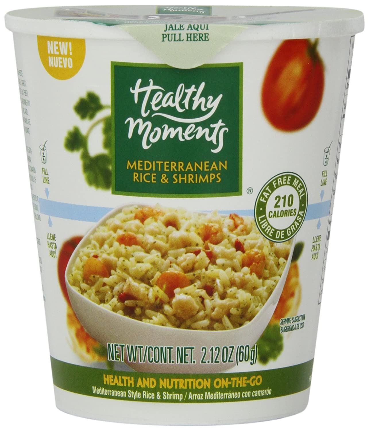 Amazon.com : Healthy Moments Mediterranean Rice and Shrimps, 2.12 Ounce (Pack of 12) : Grocery & Gourmet Food