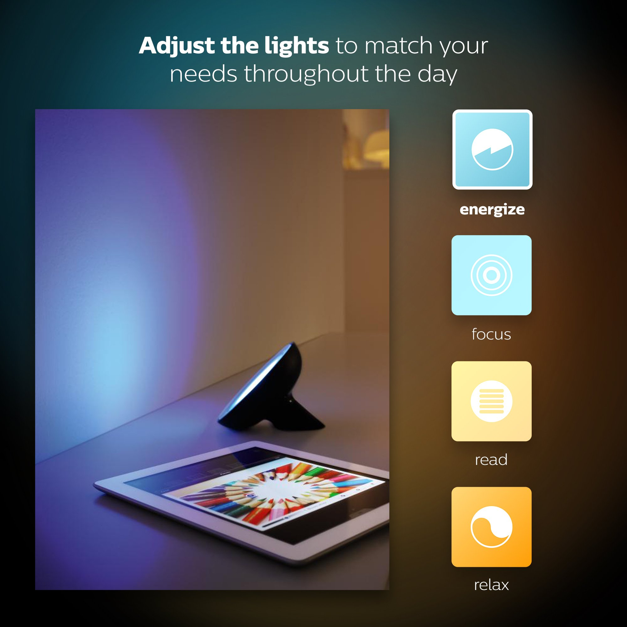 Philips Hue Bloom Dimmable LED Smart Table Lamp (Requires Hue Hub, Works with Amazon Alexa, Apple HomeKitand Google Assistant) by Philips Hue (Image #8)